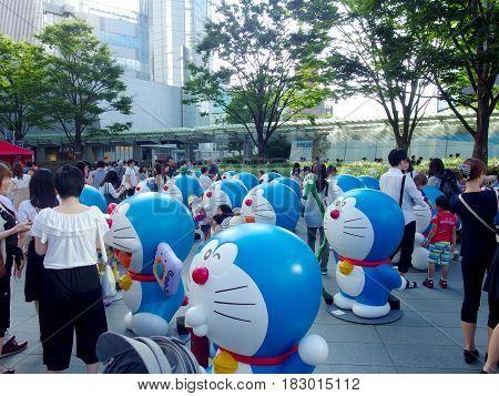 Roppongi Tokyo JAPAN, 2016 July 24. models of Doraemon exhibition at the Roppongi Hill. TOKYO JAPAN