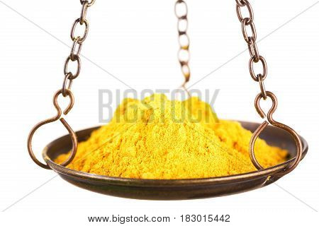 Curry Powder In A Balance Scale