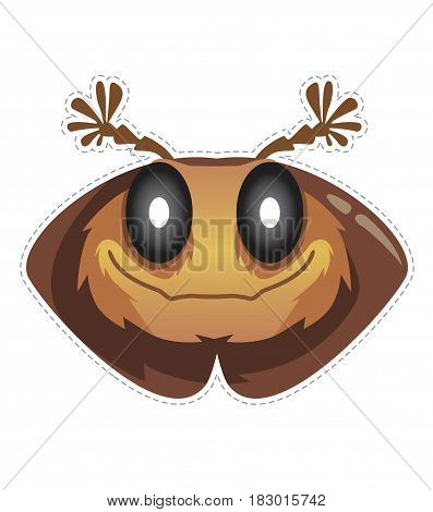 beetle mask for children's masquerade vector illustration