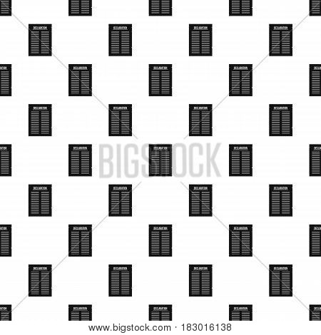 Declaration of independence pattern seamless in simple style vector illustration