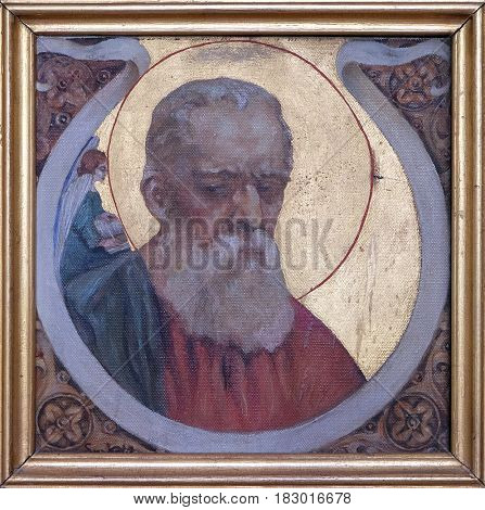 KRASIC, CROATIA - JUNE 11: Saint Matthew the Evangelist, Parish church of the Holy Trinity in Krasic, Croatia on June 11, 2016