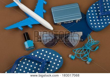 Adventure Time - Plane, Flip Flops, Passport, Little Suitcase, Sunglasses, Nail Polish