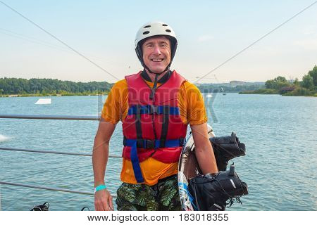 Portrait Of A Happy Man, Wakeboarder