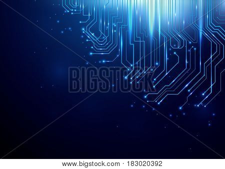 Abstract Lines Circuit Lights technology digital hi tech concept background