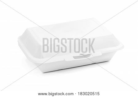blank packaging recycled paper food box for meal isolated on white background with clipping path