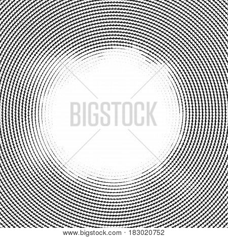 Halftone vector lines. Halftone effect. Background concept. Vignette texture. Circle lines isolated on the white backgroun