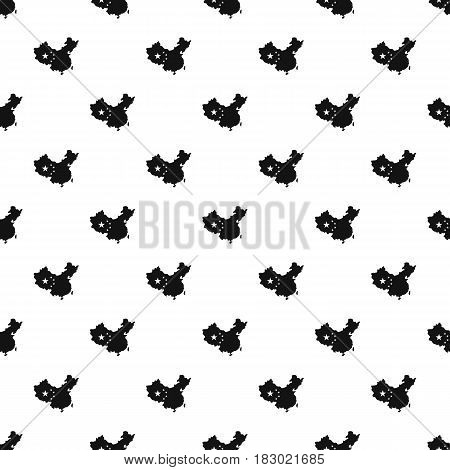 Map of China pattern seamless in simple style vector illustration
