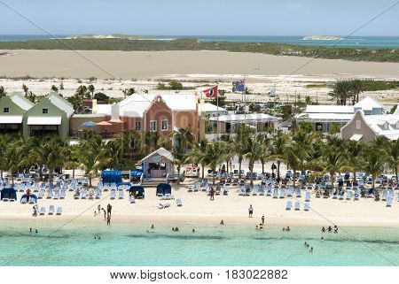The view tourist beach on Grand Turk island (Turks and Caicos Islands).