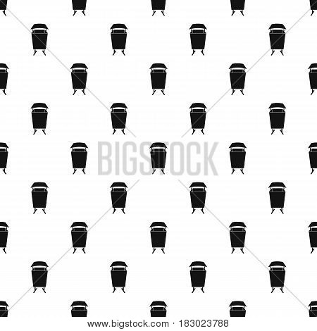 Litter waste bin pattern seamless in simple style vector illustration