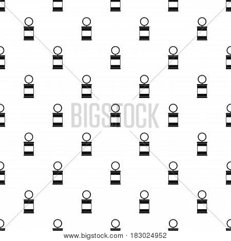 Trash can with pedal pattern seamless in simple style vector illustration