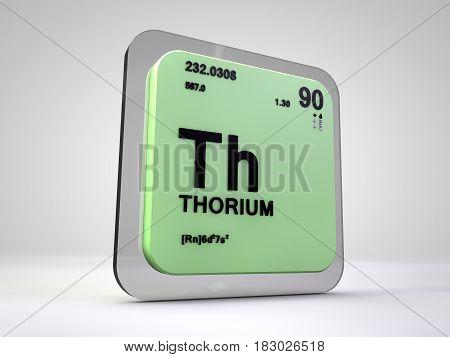 Thorium - Th - chemical element periodic table 3d render