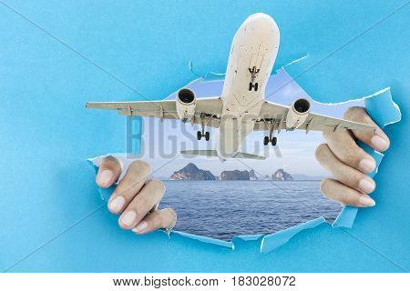 concept open travel season summer and holiday background