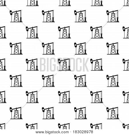 Oil derrick pattern seamless in simple style vector illustration