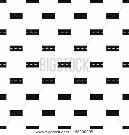Straight road pattern seamless in simple style vector illustration