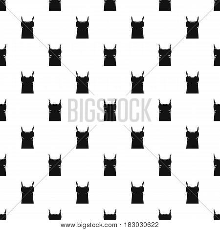 Blank women tank top pattern seamless in simple style vector illustration