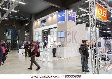 People Visiting Technology Hub In Milan, Italy