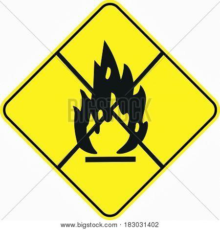 attention alert resticted flame risk symbol sign