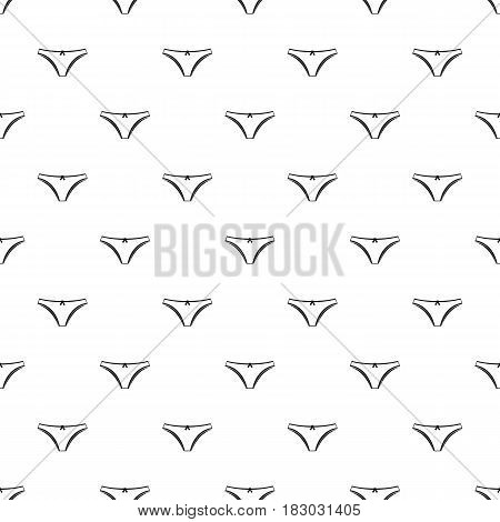 Panties pattern seamless in simple style vector illustration