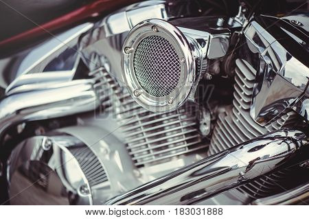 Chrome Motorcycle Air Filter