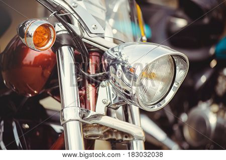 Chrome Classic Motorcycle Headlight