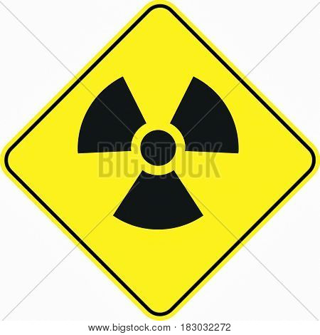 radioactivity toxic zone symbol sign logo yellow safety