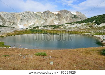 Alpine Landscape In The Medicine Bow Mountains Of Wyoming