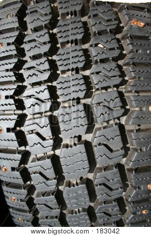 Tire Tread With Studs