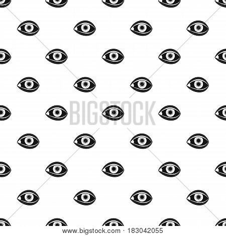 Plastic surgery of eye pattern seamless in simple style vector illustration