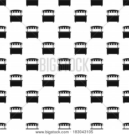Street stall with awning pattern seamless in simple style vector illustration
