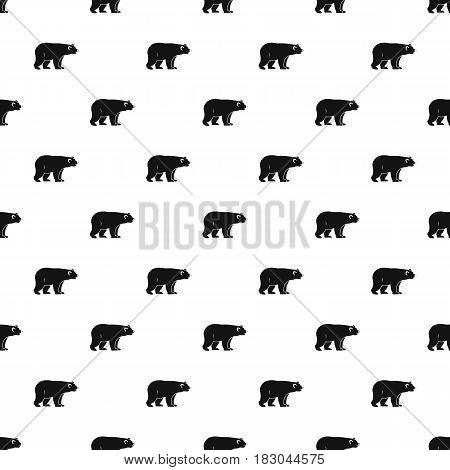 Wild bear pattern seamless in simple style vector illustration