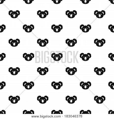 Koala pattern seamless in simple style vector illustration