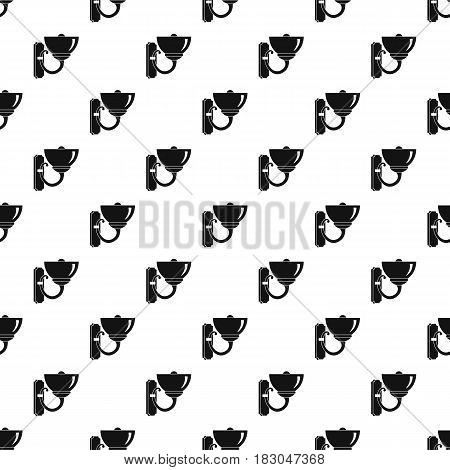 Wall lamp pattern seamless in simple style vector illustration