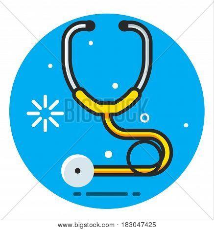 Stethoscope medical Icon illustration design art rasterized