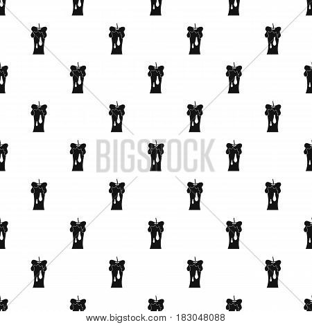 Waxen candle pattern seamless in simple style vector illustration