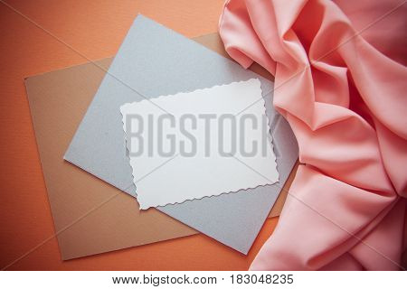 decorative background for illustrating with postcard and articstic accessories