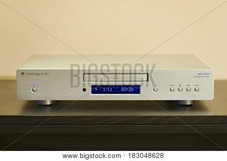 BUDAPEST, HUNGARY - December 1, 2016: Hifi CD player Cambridge Audio 351C