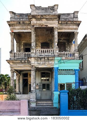 Building In Disrepair - Havana, Cuba
