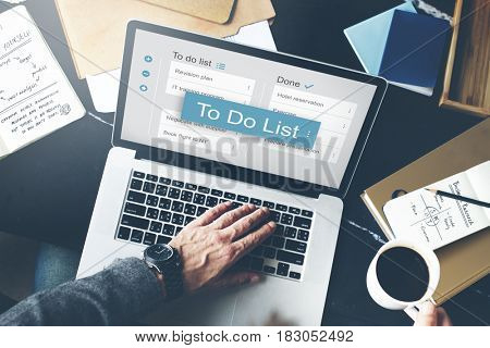 Digital Business To do List App Interface