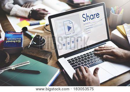 People sharing information using social media