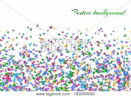 Celebration background with confetti carnival on a white backdrop