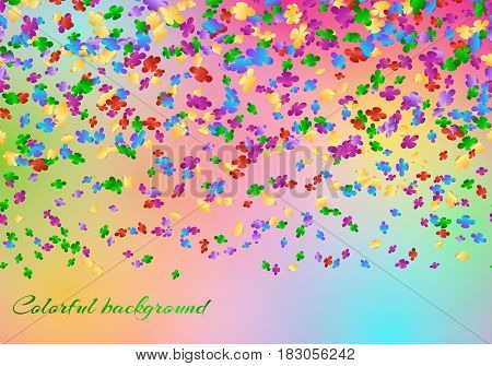 Anniversary celebration background with confetti in the air