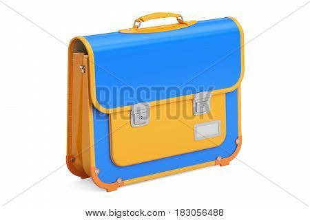 School bag briefcase. 3D rendering isolated on white background