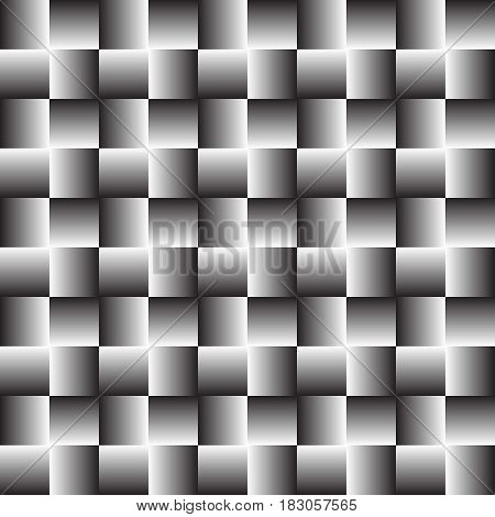 Pattern of squares. Illusion of deception . wrapping paper . Seamless illustration. Vector illustration .