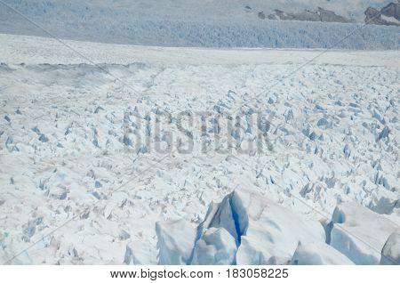 Endless ice of Perito Moreno Glacier - beauty of nature
