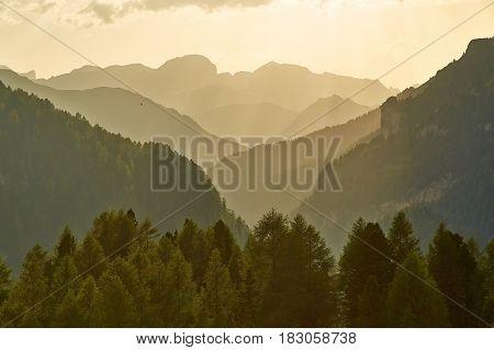 Majestic landscape in the Dolomites