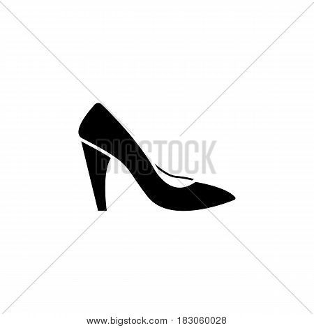 Woman shoes solid icon, shopping, pump shoes vector graphics, a filled pattern on a white background, eps 10.