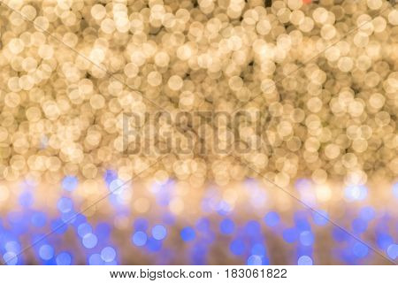 abstract blur background: defocus of yellow marquee light