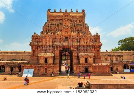 Brihadeeswara Temple In Thanjavur, Tamil Nadu, India.