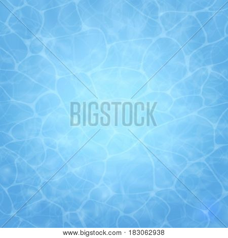 Summer background. Texture of water surface. Pool. Overhead view. Vector illustration nature background.