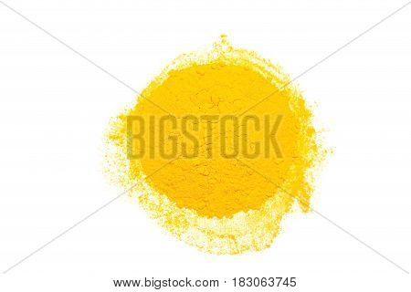 Tumeric - curcuma spice isolated on white